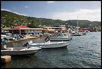 Fishing boats, Frenchtown harbor. Saint Thomas, US Virgin Islands ( color)