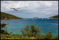 Floatplane approaching Charlotte Amalie harbor. Saint Thomas, US Virgin Islands ( color)