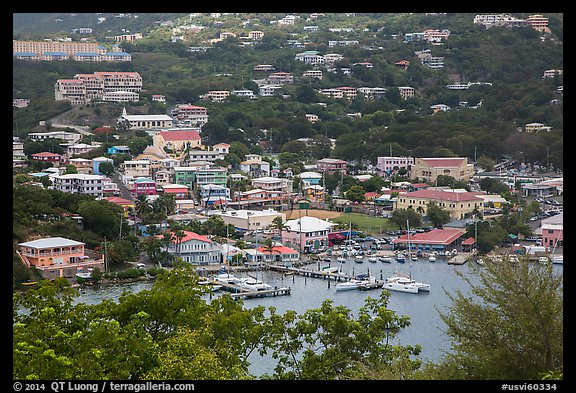 Frenchtown from above. Saint Thomas, US Virgin Islands (color)
