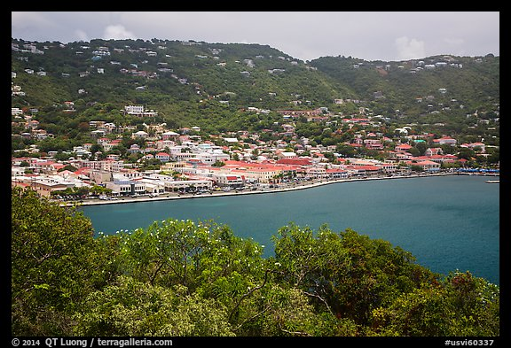 Charlotte Amalie seen from Hassel Island. Saint Thomas, US Virgin Islands (color)