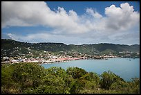 Charlotte Amalie harbor seen from Hassel Island. Saint Thomas, US Virgin Islands ( color)