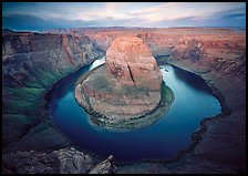 Horsehoe bend of the Colorado River, dawn. Arizona, USA (color)