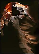 Slot canyon walls, Upper Antelope Canyon. Arizona, USA (color)