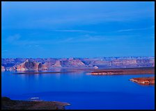 Lake Powell, blue hour. Arizona, USA (color)