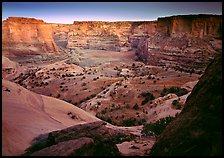 Canyon at dusk. Canyon de Chelly  National Monument, Arizona, USA