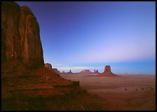View from North Window at dusk. Monument Valley Tribal Park, Navajo Nation, Arizona and Utah, USA