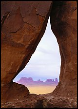 Teardrop Arch. Monument Valley Tribal Park, Navajo Nation, Arizona and Utah, USA