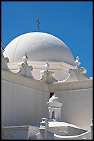 Whitewashed dome, San Xavier del Bac Mission. Tucson, Arizona, USA