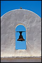Bell, San Xavier del Bac Mission (the White Dove of the Desert). Tucson, Arizona, USA ( color)