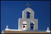 Bell tower, San Xavier del Bac Mission. Tucson, Arizona, USA
