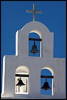 White Bell tower, San Xavier del Bac Mission. Tucson, Arizona, USA ( color)