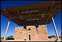 Prehistoric Big House, Casa Grande Ruins National Monument. Arizona, USA ( color)