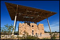 Hohokam house, Casa Grande Ruins National Monument. Arizona, USA (color)