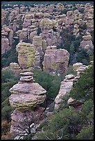 Rhyolite spires. Chiricahua National Monument, Arizona, USA ( color)