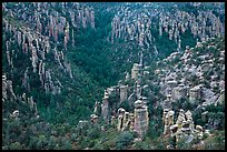 Landscape of spires from Massai Point. Chiricahua National Monument, Arizona, USA (color)