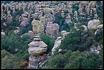 Rhyolite pinnacles. Chiricahua National Monument, Arizona, USA (color)