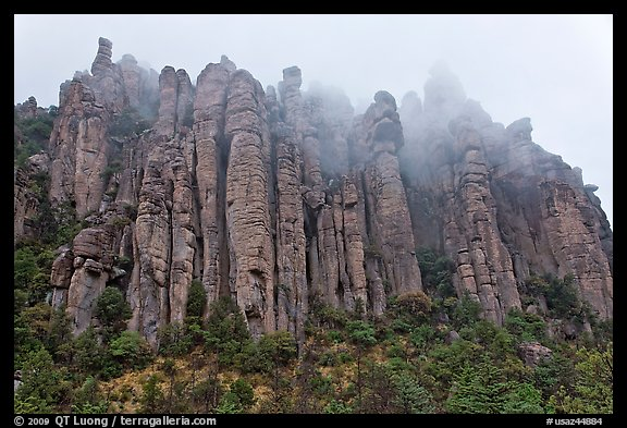 Stone columns. Chiricahua National Monument, Arizona, USA (color)