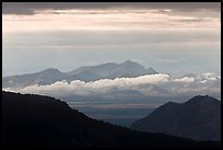 Desert mountains with storm clouds. Chiricahua National Monument, Arizona, USA ( color)