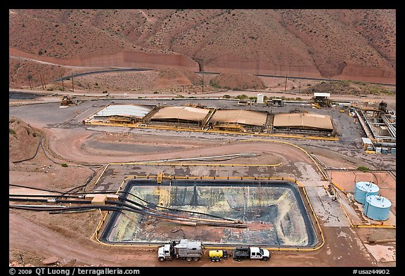 Copper mining installations, Morenci. Arizona, USA (color)
