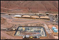 Copper mining installations, Morenci. Arizona, USA ( color)