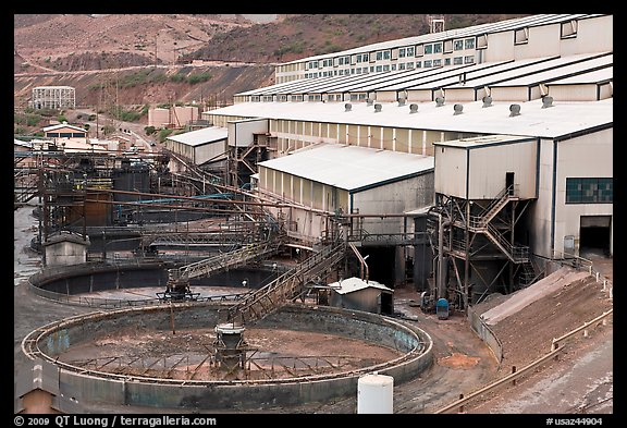 Copper mine concentrator, Morenci. Arizona, USA (color)