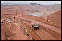 Mining truck carrying rocks, Morenci. Arizona, USA (color)