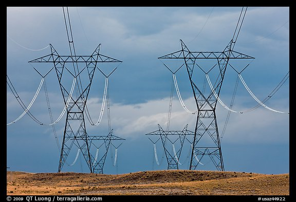 High Voltage Power Lines : Picture photo high voltage power lines arizona usa