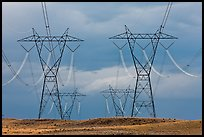 High voltage power lines. Arizona, USA ( color)