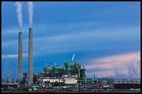 Coal fired generating station at dusk, near Holbrook. Arizona, USA (color)
