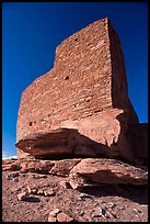 Masonary wall, Wukoki pueblo, Wupatki National Monument. Arizona, USA (color)
