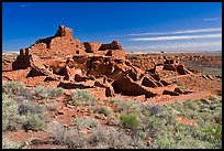 Wupatki Pueblo, Wupatki National Monument. Arizona, USA (color)
