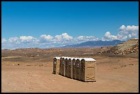 Portable toilets in desert. Four Corners Monument, Arizona, USA ( color)