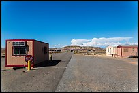 Mobile buildings at entrance. Four Corners Monument, Arizona, USA ( color)