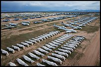 Aerial view of Davis Monthan Airforce Boneyard. Tucson, Arizona, USA ( color)