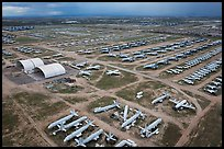 Aerial view of Aircraft Maintenance and Regeneration Group Boneyard. Tucson, Arizona, USA ( color)