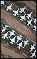 Aerial view of fighter jets. Tucson, Arizona, USA ( color)