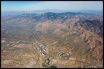 Aerial view of Tucson edges and Rincon Mountains. Tucson, Arizona, USA ( color)