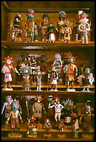 Ritual Hopi Kachina figures. Hubbell Trading Post National Historical Site, Arizona, USA