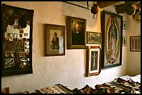 Wall with portraits from the Hubbel family. Hubbell Trading Post National Historical Site, Arizona, USA