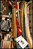 Navajo blankets and rugs for sale. Hubbell Trading Post National Historical Site, Arizona, USA