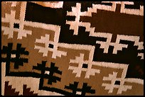 Detail of blanket with Navajo design. Hubbell Trading Post National Historical Site, Arizona, USA