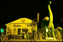 Dinosor and rock shop on route 66, Holbrook. Arizona, USA (color)