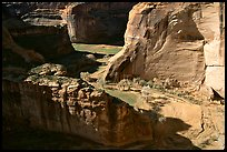 Walls and Canyon de Muerto, Anteloped House overlook. Canyon de Chelly  National Monument, Arizona, USA