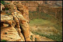 Canyon de Chelly seen from Spider Rock Overlook. Canyon de Chelly  National Monument, Arizona, USA