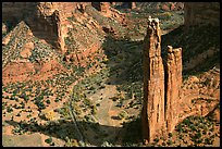 Spider Rock. Canyon de Chelly  National Monument, Arizona, USA (color)