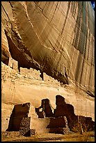 White House Ancestral Pueblan ruins. Canyon de Chelly  National Monument, Arizona, USA (color)