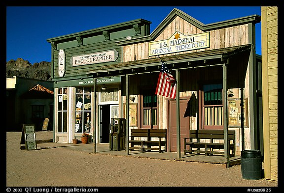 Old west style buildings, Old Tucson Studios. Tucson, Arizona, USA (color)