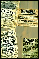 Wanted and Reward signs, Old Tucson Studios. Tucson, Arizona, USA (color)