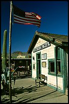 Railroad station, Old Tucson Studios. Tucson, Arizona, USA ( color)