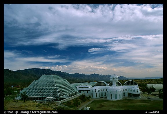 View of the complex. Biosphere 2, Arizona, USA (color)
